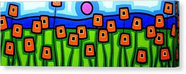 Poppy Dance Canvas Print by John  Nolan