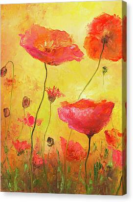 Poppy Delight Canvas Print by Jan Matson