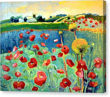 Poppy Farm Canvas Print