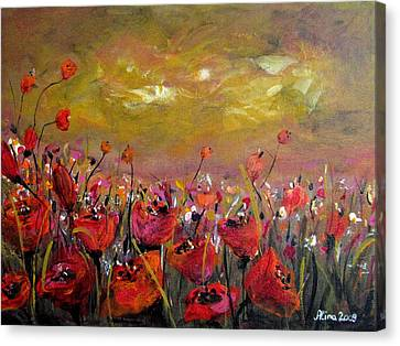 Poppy Field Canvas Print by Alina Vidulescu