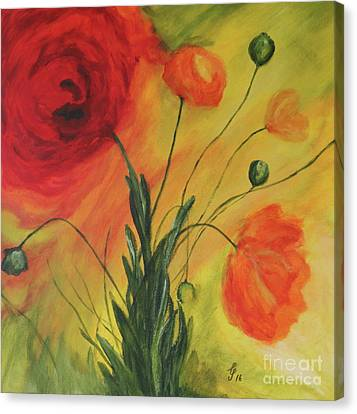 Poppy Garden Canvas Print by Christiane Schulze Art And Photography