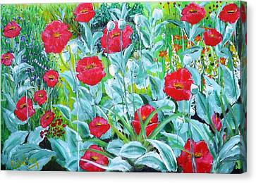 Poppy Impression Canvas Print