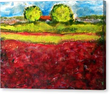 Poppy Meadow Canvas Print by Karla Phlypo-Price
