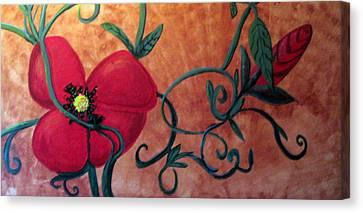Poppy One Canvas Print by Rebecca Merola