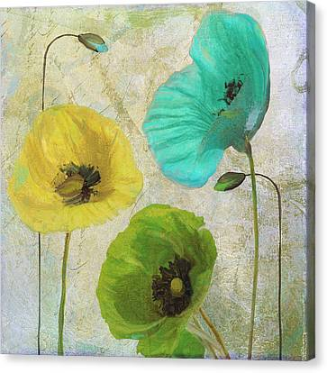 Poppy Shimmer I Canvas Print by Mindy Sommers