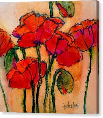 Poppy Sketch Canvas Print by Carol  Nelson