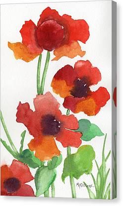 Poppy Study Canvas Print by Marsha Elliott