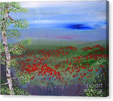 Poppy Valley Canvas Print by Jamie Hartley