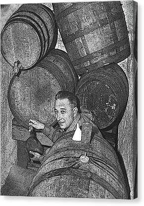 Pop's Wine Cellar Canvas Print by Don Wolf