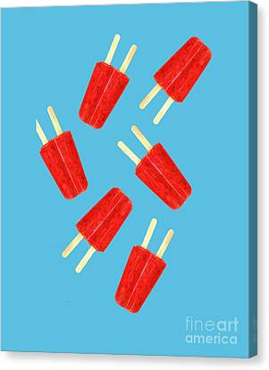 Popsicle T-shirt Canvas Print by Edward Fielding