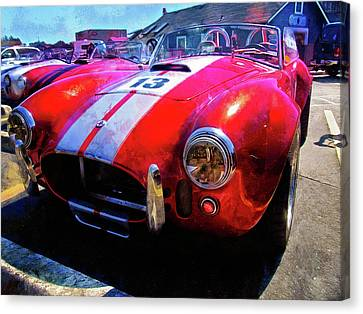 Popular Classic Sports Car - Shelby Cobra Canvas Print by Thom Zehrfeld