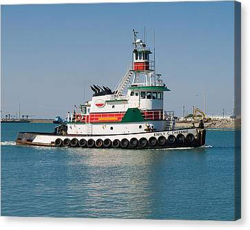 Popular Sight At Port Canaveral On Florida Canvas Print by Allan  Hughes