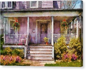 Porch - Cranford Nj - Grandmotherly Love Canvas Print by Mike Savad