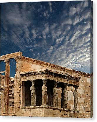 Caryatids Canvas Print - Porch Of The Caryatids Athens Greece by Bob Christopher