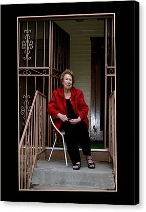 Porchwatcher Canvas Print by Richard Gordon