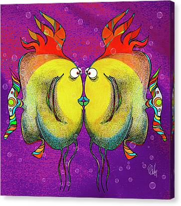 Porggiepuffersmoochers Canvas Print