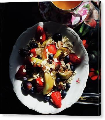 Porridge Canvas Print - Porridge Oil by WJ Walkowicz
