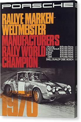 Porsche 1970 Rally World Champion Canvas Print