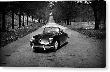 Classic Porsche 356 Canvas Print - Porsche 356 1965 by Mark Rogan
