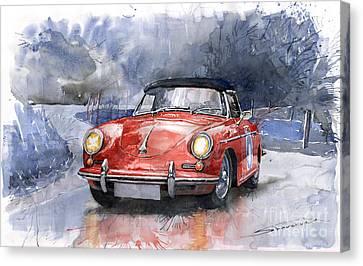 Porsche 356 B Roadster Canvas Print by Yuriy  Shevchuk