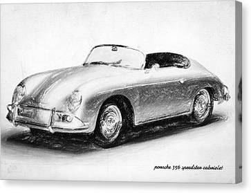 Porsche 356 Canvas Print by Taylan Apukovska
