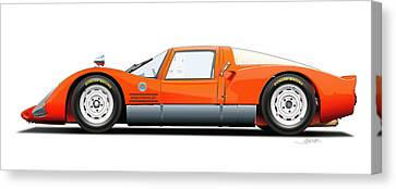 Porsche 906 Illustration Canvas Print by Alain Jamar