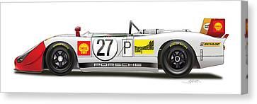 Porsche 908/02  Canvas Print by Alain Jamar