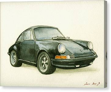 Porsche 911 Classic Car Art Canvas Print