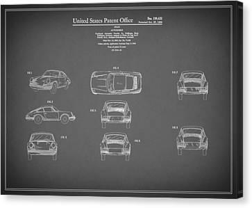 Porsche 911 Patent 1964 Canvas Print