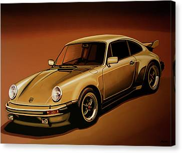 Porsche 911 Turbo 1976 Painting Canvas Print