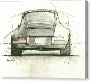 Porsche 911 Rs Canvas Print by Juan Bosco