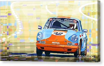 Porsche 911 S  Classic Le Mans 24  Canvas Print by Yuriy  Shevchuk