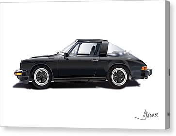 porsche 911 SC Targa Canvas Print by Alain Jamar