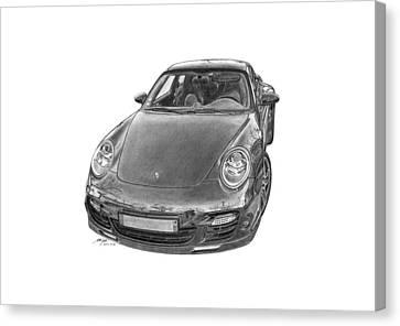 Porsche 911 Turbo Canvas Print by Gabor Vida