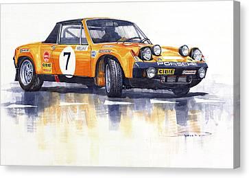 Porsche 914-6 Gt Rally Canvas Print by Yuriy  Shevchuk