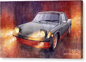 1969 Canvas Print - 1970 Porsche 914 by Yuriy  Shevchuk