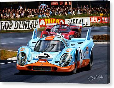 Porsche 917 At Le Mans Canvas Print by David Kyte