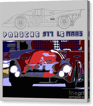 Porsche 917 Graphic Canvas Print by Curt Johnson