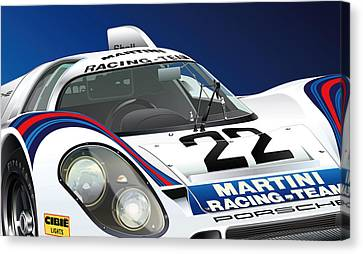 Porsche 917k Canvas Print by Alain Jamar