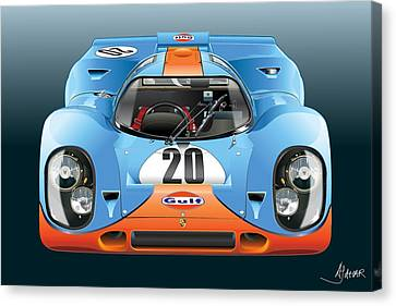 Porsche 917k Kurzneck Canvas Print by Alain Jamar