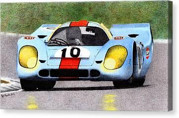 Porsche 917k Pedro Rodriguez 1970 Canvas Print by Ugo Capeto