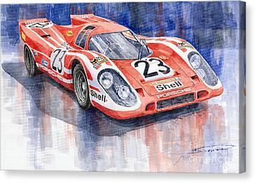 Sports Legends Canvas Print - Porsche 917k Winning Le Mans 1970 by Yuriy  Shevchuk