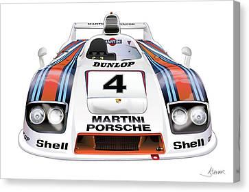 Porsche 936 Spyder 1980 Canvas Print by Alain Jamar