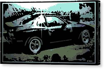 Porsche 944 Canvas Print by George Pedro