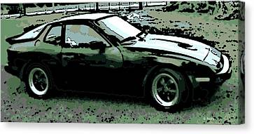 Porsche 944 On A Hot Afternoon Canvas Print by George Pedro