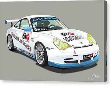 Porsche 996 Gt3 Cup Canvas Print by Alain Jamar
