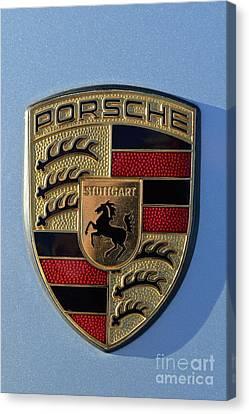 Porsche Badge Canvas Print by George Atsametakis