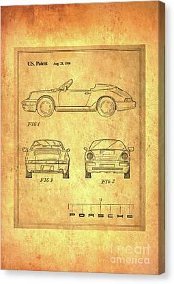 Porsche Blueprint Canvas Print by Steven Parker