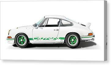 Porsche Carrera Rs Illustration Canvas Print