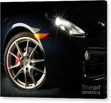 Porsche Cayman S Night Detail Canvas Print
